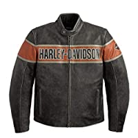 Harley-Davidson 男式 Victory Lane 皮夾克