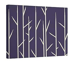 E by design OGFNR7SPRINGNAVY-24 印花户外墙壁艺术,91.44 厘米 x 60.96 厘米,蓝色
