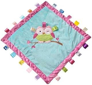 Mary Meyer Taggies Oodles 猫头鹰舒适毯子抱毯 - 16 英寸 绿色、粉色、蓝色