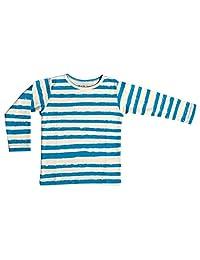 Noe&Zoe 长款 袖子 T恤 蓝色 6Y