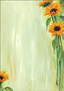 "Sigel DP462 主题印花纸张 信纸 90 克 DIA A4 25 张 Motiv ""Sunflower"" DIN A4 Motiv ""Sunflower"""