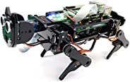 Freenove 机器人狗套件 适用于覆盆子 Pi 4 B 3 B + B A+,散步,自平衡,球追踪,面部检测,实时视频,超声波测距,相机伺服无线遥控