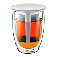 bodum TEA for One 0.35L / 340.2gram 双 walled 茶 GLASS and TEA strainer