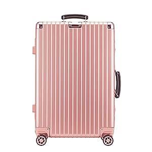 ELLE 中性 出国通用款海关锁扣式硬箱拉杆箱旅行箱 ELDL1014-20-77 玫瑰金 20寸(亚马逊自营商品, 由供应商配送)