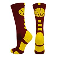 MadSportsStuff 篮球袜带篮球标志运动袜(20 种颜色以上)