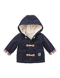 加绒davebella戴维贝拉冬季新款男童棉服宝宝棉衣DBA7781