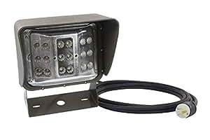 60 瓦彩色 LED 壁装灯 - 宽泛光光束 - U 型支架安装 - 149.24m 电源线(-蓝色-小猪尾)