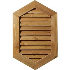 Ekena Millwork GVWVP24X2402RDUPI-12 未抛光、装饰性粗糙锯齿松木垂直浮雕花口带装饰面框