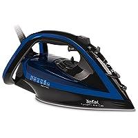 Tefal FV 5340蒸汽熨斗 Aquaspeed, 2400瓦, 40克/min 蒸汽性能, 汽车 Clean 钢圈底, 深红色 dunkelgrau/velvet-blau