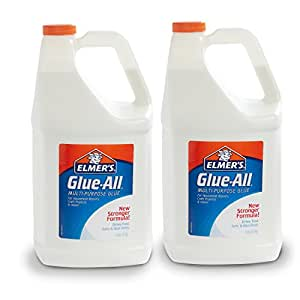 Elmer's Glue-All Multi-Purpose Liquid Glue, Extra Strong, 1 Gallon, 2 Count - Great for Making Slime