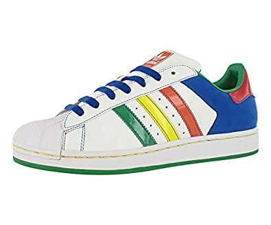 adidas Originals Men's Superstar ll Sneaker White/Multi-color 8 D(M) US