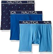 Nautica 男士经典内裤棉质弹力平角内裤 - 多条装