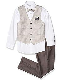 Isaac Mizrahi 男孩 4 件套多格子背心套装