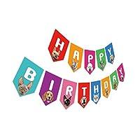 Silvima 生日快乐派对横幅 #7 Cat & Dog Birthday Banner