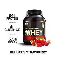 Optimum Nutrition 黃金標準乳清蛋白粉,美味的草莓味,5磅