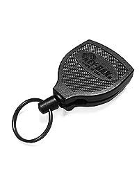 Key-BAK SUPER48 Plus HD 226.8 克。 Ambidextrous 可伸缩钥匙扣,带 121.92 厘米凯夫拉绳和锁定钢皮带夹