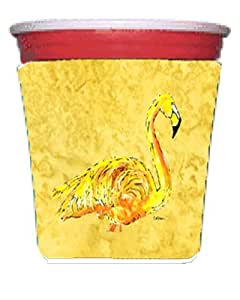 Flamingo on Yellow Michelob Ultra Koozies for slim cans 8872MUK 多色 Red Solo Cup