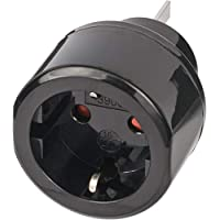 Brennenstuhl 百能斯圖 旅行插頭插座適配器 適用于澳大利亞 中國的插座和接地插頭 黑色