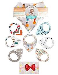 婴儿围兜,男女皆宜 | * 防水中性款婴儿围嘴,用于出牙和喂食 | 独特设计*的闪耀