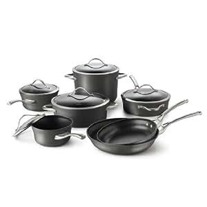 Calphalon 现代不粘锅 12 件套炊具,可使用洗碗机清洗