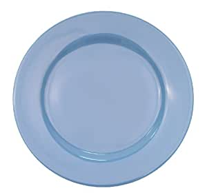 CAC China LV-8-LB 9-Inch Las Vegas Rolled Edge Stoneware Plate, Light Blue, Box of 24