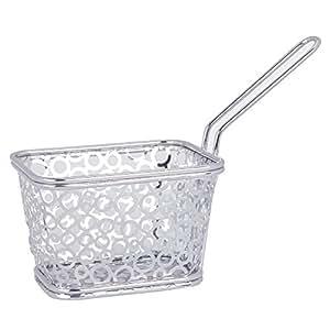 Restaurantware Chrome Circo Fryer Basket, Mini, Silver