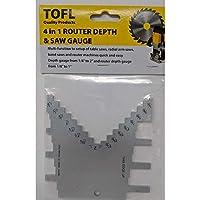 TOFL Router 深度-高度测量 | 用于木工项目的阶梯深度和高度测量工具 | 帮助让您的路由器快速简单地安装 | 获得精确切割