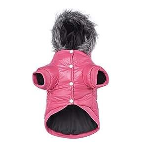 kpmall 狗狗冬季外套,连帽夹克防雪服装防水