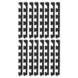 尤诺克斯拼接垫子 黑色 30cm尺寸 极厚 约14mm 拼接垫子用 边缘角用 17-010 2个装 8个一套