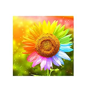 leoyoubei 可爱动物 5D 钻石刺绣 DIY 工艺绘画 十字绣 Mosaic 家居装饰-工艺品和缝纫十字绣 向日葵 leoyoubei123
