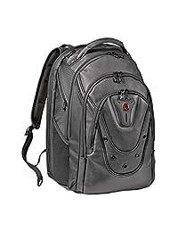 "Wenger 605499 17"" Ibex 125。 Jubiläum 笔记本背包带平板电脑包-黑色皮革 {26 升 }"