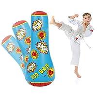 Bundaloo 儿童充气拳击袋 - 5 岁及以上趣味吹球玩具 - 坚固构造,快速反弹 - 非常适合运动训练、家庭锻炼、游戏和活动 - 44 英寸高