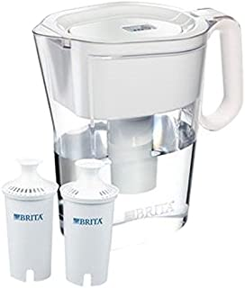 Brita 波浪 10 杯水壶和 2 个高级过滤器,混色 透明