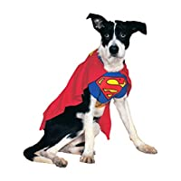 Rubies 服装 DC 英雄与恶棍系列宠物服装–超人 蓝色 大