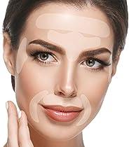 面部贴片祛皱除膏 - 240 面胶带冰沙:额头皱贴,眼部皱贴,嘴周围皱纹和上唇皱处理 - 可重复使用的冰沙皱贴