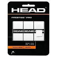 HEAD 海德 Prestige Pro Overwrap 网球拍外层握把皮 吸汗带 三条装 282009-WH 白色