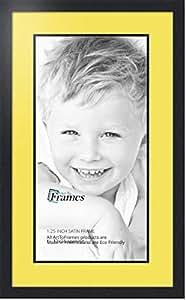 Art to Frames 双-多衬垫-670-47R/89-FRBW26079 拼贴照片框双衬垫带 1-30x24 的开口和缎面黑色边框