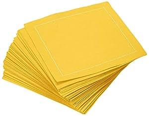 Signature Napkins CO11-303 4.5 英寸 x 4.5 英寸可重复使用 * 纯棉鸡尾酒餐巾,100 片装,烟灰色 Citron 50-Pack CO11-901/DW200-50