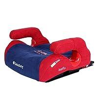 【赠护肩带+导向槽】英国zazababy 嘉嘉宝贝 za-2030plus 汽车用儿童安全增高座垫 【折叠ISOFIX接口,一体注塑骨架,人体力学曲面设计,儿童扶手设计】车载坐垫安全座椅 4-12岁