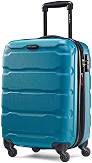 Samsonite 新秀丽 Omni Pc Hardside 可扩展行李箱,带万向轮,Caribbean Blue,Carry-On 20-Inch