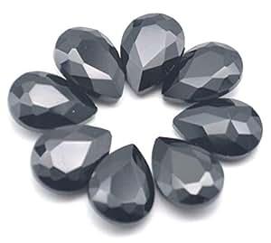 Catoterm 混合彩色泪珠形状缝在玻璃水晶钻水钻工艺上 50 件,13x8mm 黑色 13x18mm
