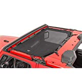 MasterTop 14202501 Freedom 黑色网面上衣 适用于 2018 - 电流 2 门 Jeep JL Wrangler