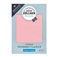 Julius Zöllner 优质平纹床单 不透明 平纹针织双层布料 婴儿床适用 Blush 60x120 und 70x140 cm