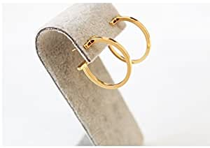 新款女式镀金不对称三角耳环耳钉 镀金 2