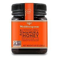 Wedderspoon Raw Premium麦卢卡蜂蜜 KFactor 16+,未经巴氏杀菌,纯正新西兰蜂蜜,多功能,Non-GMO Superfood,8.8盎司/250克