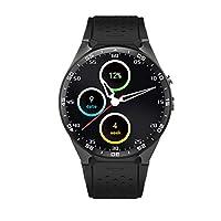 PRIXTON - 智能手表男士/女士带Android操作系统,SIM 插槽,GPS,脉冲刀,内存:512 MB / ROM:4 GB,健身臂带兼容 iOS / Android | SW41