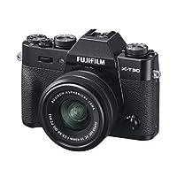 Fujifilm 富士 X-T30 数码相机,无反光镜,配Fujinon XC15-45mm光学防抖电动变焦镜头套件,黑色