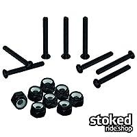 Stoked Ride Shop 不锈钢滑板 8 件安装硬件套装 | 平板飞利浦、平板内六角扳手、内六角扳手头选择 | 黑色或银色不锈钢螺栓