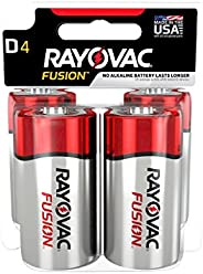 FUSION by Rayovac High-Performance 9V Alkaline Batteries D 4