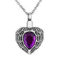 KunBead 天使之翼男士 Cremation 珠宝 URN 项链用于灰烬纪念品项链 女士